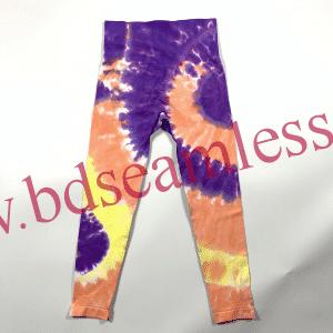 Seamless womens tie dye workout leggings manufacturer