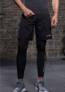 shorts over compression pants