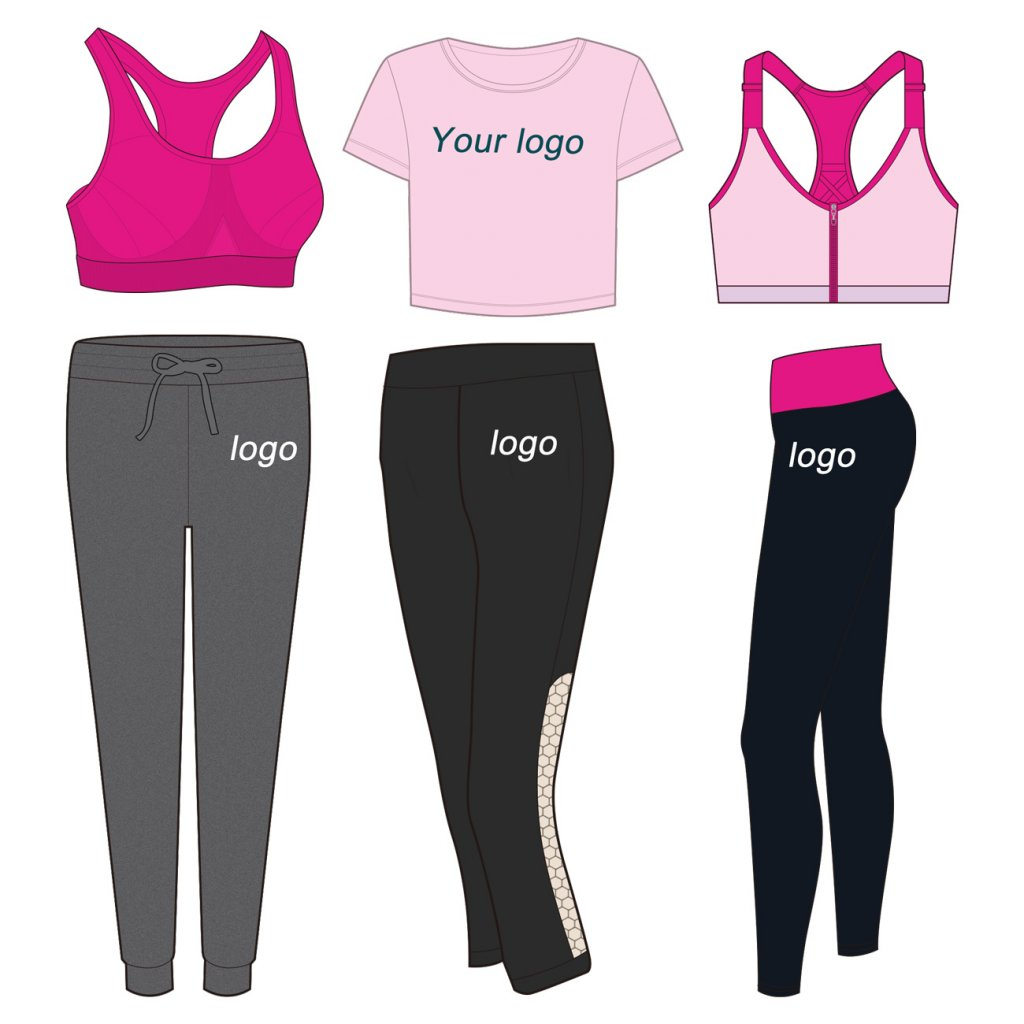 Wholesale blank fitness apparel manufacturers