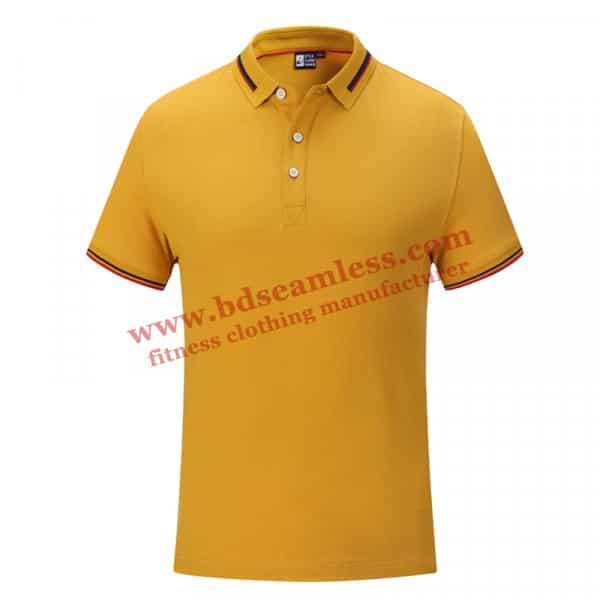 Yellow golf themed tee shirts wholesale