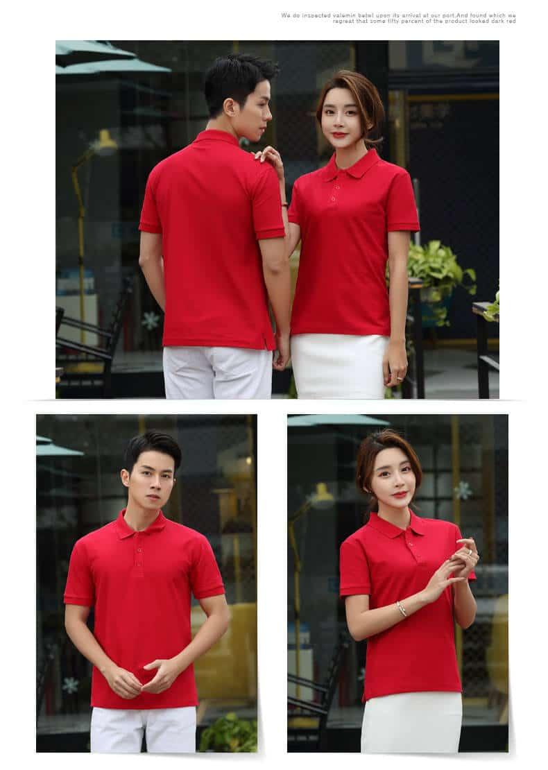 Custom Plain Red Golf T Shirt Manufacturer